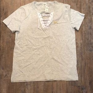 Lace Up Campus Tee! NWT